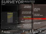 Front menu for Surveyor, note how you have sessions for a route, and how many routes dont have any sessions?