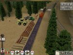 Attempting to load some logs - unfortunately I had the wrong wagons... Oops.